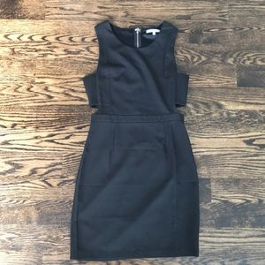 LuLus Black Cutout Dress